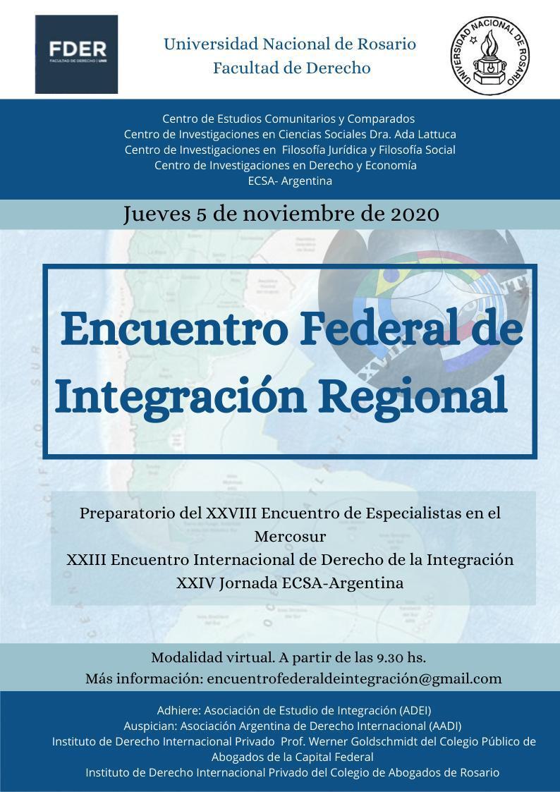 Encuentro federal de Integración Regional