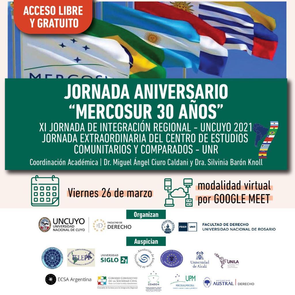 JORNADA ANIVERSARIO «MERCOSUR 30 AÑOS»