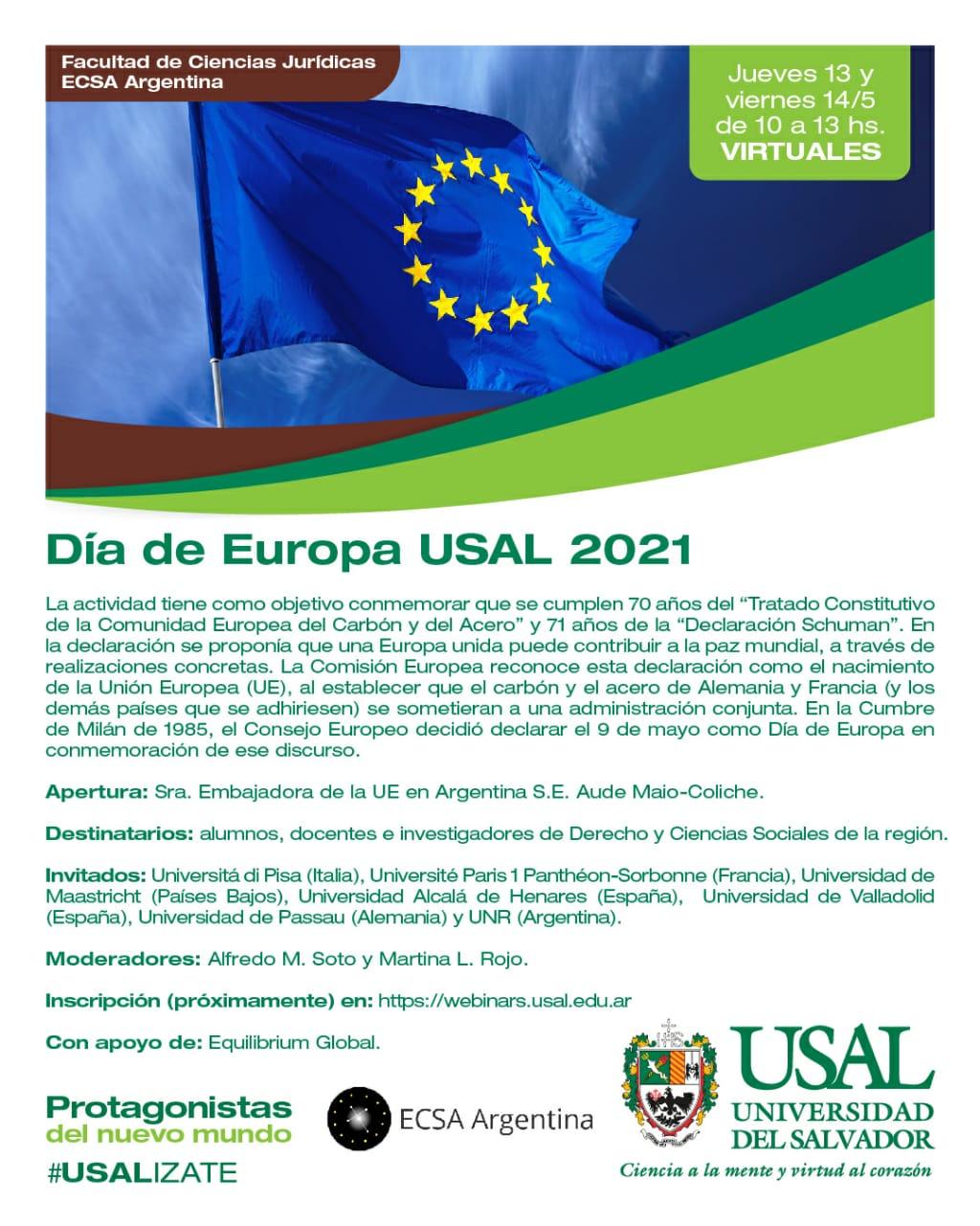 DÍA DE EUROPA USAL 2021