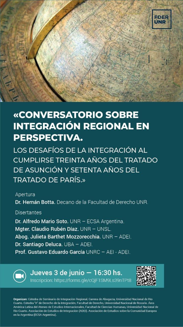 CONVERSATORIO SOBRE INTEGRACIÓN REGIONAL EN PERSPECTIVA