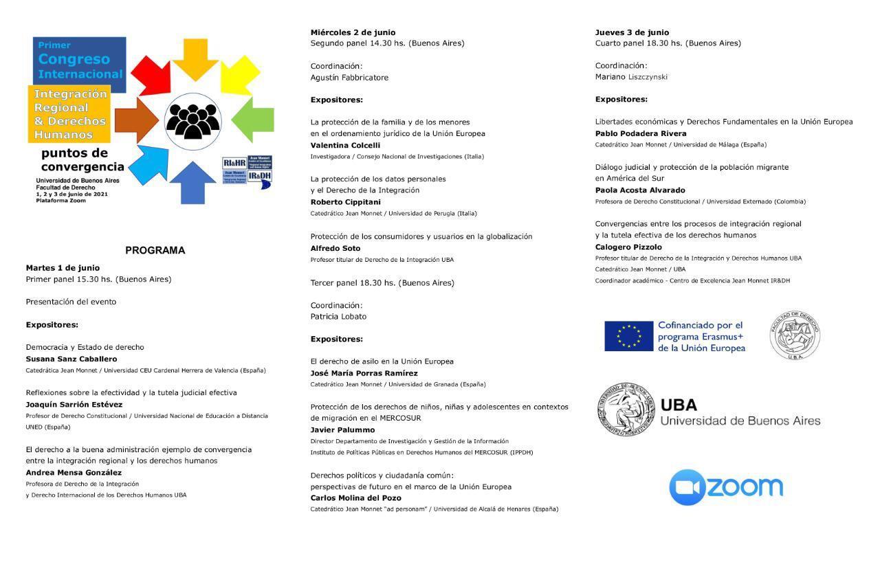 I Congreso Internacional sobre Integración Regional & Derechos Humanos: puntos de convergencia